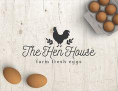 Business Logo – Logo Design – Premade Logo – Pre-designed Personalized – Customized Eggs Chicken Hen Farm Graphic Design Professional Logo Business Logo Logo Design Premade Logo by StudioTwentyNine Food Logo Design, Logo Food, Branding Design, Cool Business Cards, Business Logo, Egg Logo, Hen Farm, Chicken Logo, Packaging