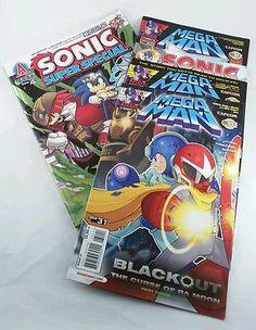 Sega Sonic Super Special & Mega Man Comic Books