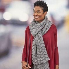 Red Heart® Super Saver® Wavy Ridge Crochet Super Scarf