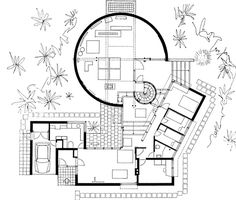 Woonhuis Visser / Private House Visser ( G. Architecture Concept Drawings, Architecture Plan, Interior Architecture, Luxury House Plans, Modern House Plans, Aldo Van Eyck, Modern Villa Design, Plan Design, Floor Plans
