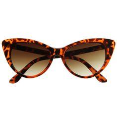 81dc5ea63016 Super Round Cat Eye Indie Sunglasses 8524 Crazy Tortoise Vintage Inspired  Fashion