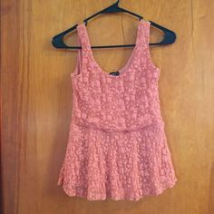Lace tank top Flower lace tank top. Size small. Rue 21 Tops Tank Tops