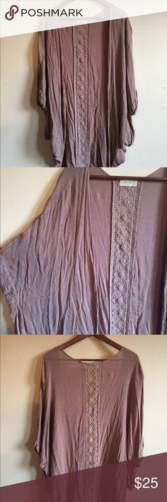 Lace insert Kimono Lace insert Kimono Altar'd State Tops Blouses