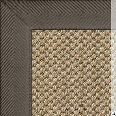 Sisal Oriental Rug. Border: Cotton Herringbone / Rhino Brown Office Carpet, Rugs On Carpet, Carpets, Rug Store, Natural Rug, Rugs Online, Sisal, Store Design, Oriental Rug