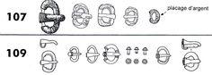 boucle ardillon: ce genre d'ardillon se trouvait sur les boucles ovales.  Il est datable du V° au 1° tiers du VI°s pas plus. Après cette période il était utilisé des ardillons scutiforme et non pas droit comme celui-ci- DAGOBERT 1°. 3) BIOGRAPHIE. 3.2 ROI D'AUSTRASIE, 15: A son retour au palais de Metz, CHRODOALD est assassiné par des hommes du patrice HARMAIRE sur ordre de DAGOBERT. CLOTAIRE se rend compte qu'il y a eu accord entre son fils et l'entourage de celui-ci.