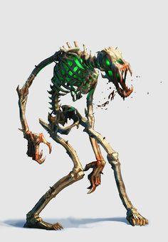 Kobold: Undead/Skeleton - Aimé Jalon. Animated bones. RPG. D&D. Pathfinder. Dungeons and Dragons.