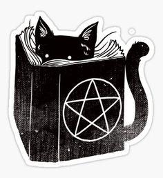 Pegatina witchcraft cat