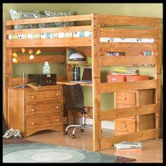 Full Loft Bed Plans Free | study-loft-bunk-bed.jpg
