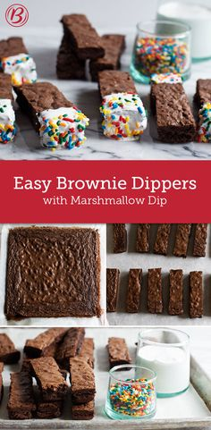 These clever brownie dippers are the perfect party treat! Made with Betty's dark chocolate brownie mix, they are so easy to customize and even more fun to eat!