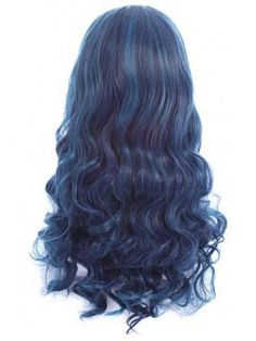 Blue Wigs Lace Frontal Hair Curly Frontal Wig Dominican Hair Salon Near Me Magic Hair Iron Wig Styles, Curly Hair Styles, Halloween Wigs, Halloween Cosplay, Baby Halloween, Les Descendants, Descendants Characters, Dominican Hair, Blue Wig