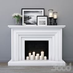 incredible fireplace ideas for your best home design - warm your house with . - incredible fireplace ideas for your best home design – warm your house with our huge selectio - Tv Above Fireplace, Cabin Fireplace, Fake Fireplace, Bedroom Fireplace, Fireplace Inserts, Fireplace Surrounds, Fireplace Design, Decorative Fireplace, Candles In Fireplace