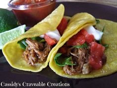 Shredded Beef Tacos - Kids love tacos and these are both Gluten and Dairy Free so nothing to make your child less focused.   #additudemag #adhdplate