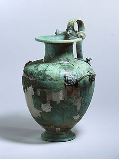 Hydria    Bronze   H: 48.8 cm   Allegedly from Greece   Greek   Towards 450 B.C. (or shortly thereafter)