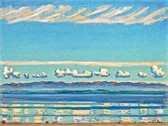 Ferdinand Hodler - AM GENFERSEE (LANDSCHAFTLICHER FORMENRHYTHMUS) ON LAKE OF GENEVA (LANDSCAPE WITH RHYTHMIC SHAPES); Medium: Öl auf Leinwand