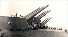 "Elevated 16"" guns of battleship HMS Rodney. The very guns that were used against the Bismark."