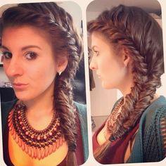 That's such a cute fishtail braid. I love this hairstyle! (: