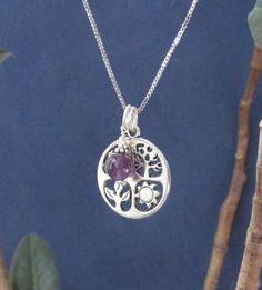 Four Seasons Charm Silver Pendant//Purple by AthenaisJewelry, $27.00