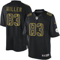 ac01e5e9b81 Men s Nike Pittsburgh Steelers  83 Heath Miller Limited Black Impact Jersey   69.99 Nike Elites