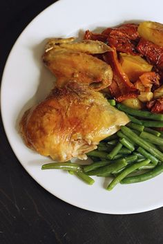 Roast Chicken and Vegetables take very little time to prepare. The resulting crispy skin, tender meat, and succulent vegetables are delicious.