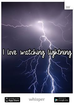 I love watching lightning