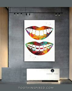 Dental Posters, Dental Office Decor, Gifts For Dentist, Dental Assistant, Art Prints For Sale, Abstract Print, Clinic, Symbols, Wall Art