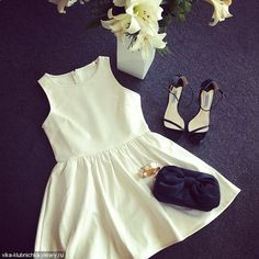accessories cute dress flowers pretty shoes white