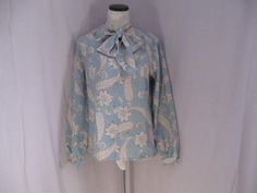Vintage Judy Bond Secretary  Bow Blouse size 16 by jonscreations