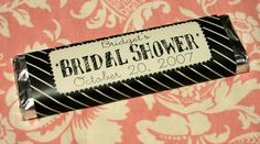Bridal Shower Goodies Idea chocolate