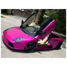 Vehicles For > Pink Lamborghini ❤ liked on Polyvore featuring cars and other