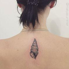 Horn Shell Tattoo by Mariya Summer