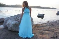Aqua Blue Bridesmaid Dress | Convertible Dress | Maxi Dress | Infinity Dress | Prom Dress | Floor Length Dress