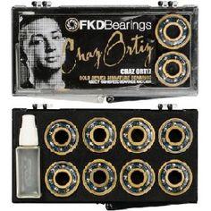 1BEFKDGCO FKD BEARINGS GOLD SERIES C. ORTIZ ABEC 7 Skateboard Bearings, Gold, Yellow