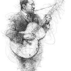 vince low scribble pen art portraits images (10)