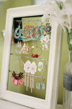 Might do this, but I might just make/find a cool box to put my earrings in instead