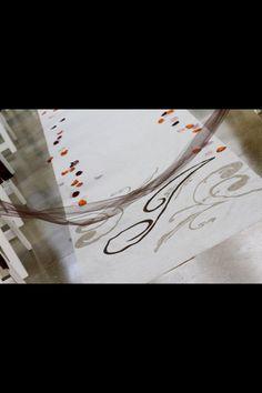 Monogrammed wedding isle runner