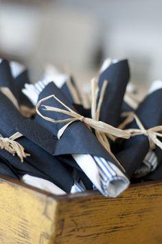place setting ideas for weddings Unique Napkin Ideas + Decor Wedding Napkins, Wedding Table, Napkin Wrapped Silverware, Paper Napkin Folding, Paper Serviettes, Tropical Bridal Showers, Paper Napkins For Decoupage, Washington Dc Wedding, Dinner Napkins