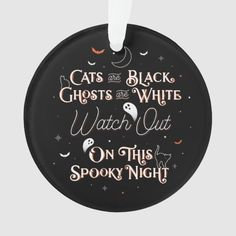 Watch Out On This Spooky Night Halloween Ornament Pirate Halloween, Halloween Signs, Baby Halloween, Vintage Halloween, Halloween Crafts, Halloween Costumes, Christmas Decorations For The Home, Felt Decorations, Diy Halloween Decorations