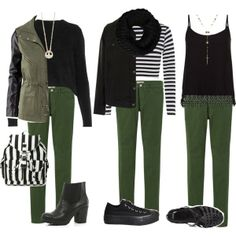 """Requested: Inspired with dark green jeans"" by angela379 on Polyvore"