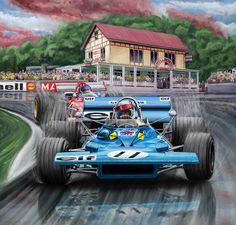 Jackie Stewart Digital Art - Jackie Stewart At Spa In The Rain by David Kyte Sport Cars, Race Cars, Jackie Stewart, Automobile, Speed Art, Car Drawings, Automotive Art, Indy Cars, Car Painting
