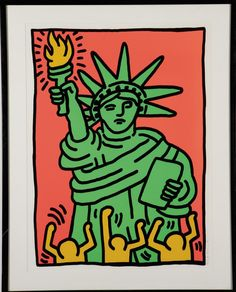 Keith Haring - Statue of Liberty, 1986