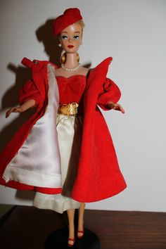 "Vintage Barbie Ponytail 4 in ""Red Flare"" I so love this outfit. Always wanted a red swing coat!"