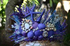 Purple Royalty mermaid crown. Photoshoot - model - runway - pageant - mermaid costume