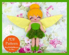 Tinker Bell. Felt Doll. Felt Pattern. PDF by FeltDollManiac
