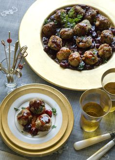 Turkey Meatballs with Orange Cranberry Gravy / gluten-free, dairy-free recipe