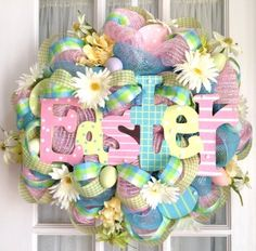 Google Image Result for http://southerncharmwreaths.com/images/thumbnails/mesh_wreath_Easter_Sign_pastels_eggs-2sml.jpg