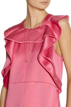 Chloé   Ruffled silk-blend satin gown   NET-A-PORTER.COM