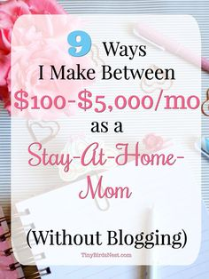 Earn Money At Home Biz. Five Ways To Make Money As A Stay-At-Home Mom. Photo by 2013 From cooking, cleaning, and changing diapers, being a parent is already a full time job but without the paycheck. Make Money Blogging, Money Tips, Make Money Online, Saving Money, Saving Tips, Work From Home Tips, Make Money From Home, Way To Make Money, How To Make