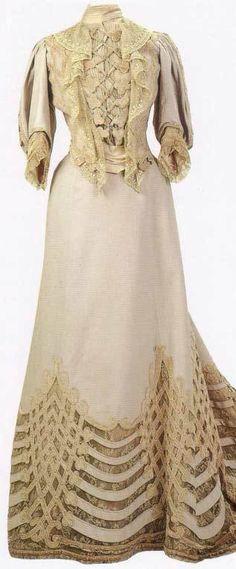 Dress of Tsarina Alexandra Romanova - 1890's-1910's - Alexandra Feodorovna Romanova (1872-1918) - She was Empress consort of Russia as spouse of Nicholas II, the last Emperor of the Russian Empire