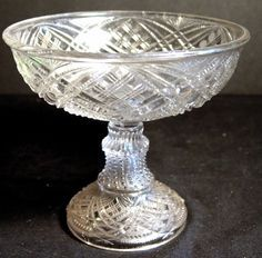 Pottery, Porcelain & Glass Cooperative Studio Vintage Bagley Frosted Vase Bowl With Metal Basket Leaves Attractive Fashion