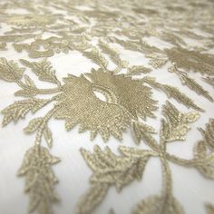 Tecido tule bordado dourado - Maximus Tecidos   Loja Online